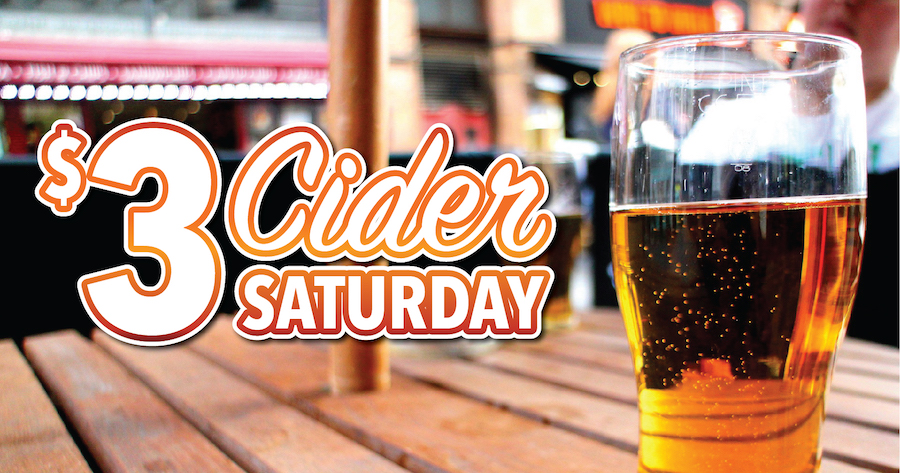Come try Cider Saturday at Champ's in Myrtle Beach