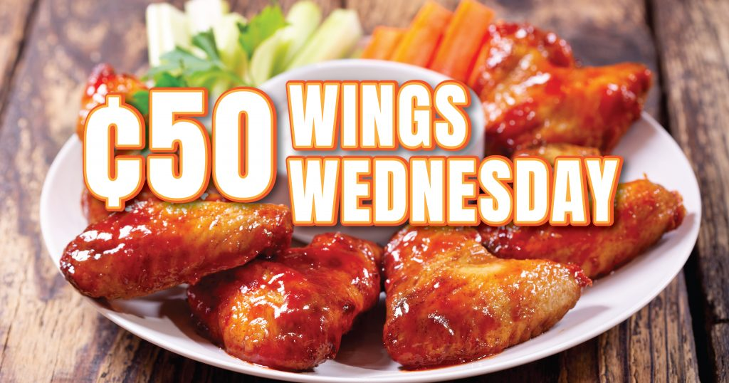 50 cent wing Wednesday at Myrtle Beach